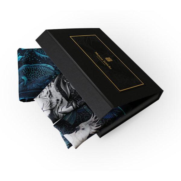 packaging2 coffret trois pochettes homme soie elegance2 made in France maison fétiche