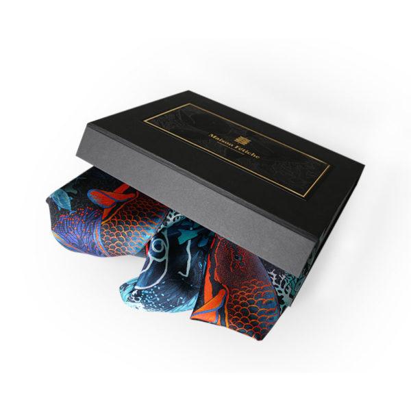 packaging2 coffret trois pochettes homme soie fond sous marin made in France maison fétiche