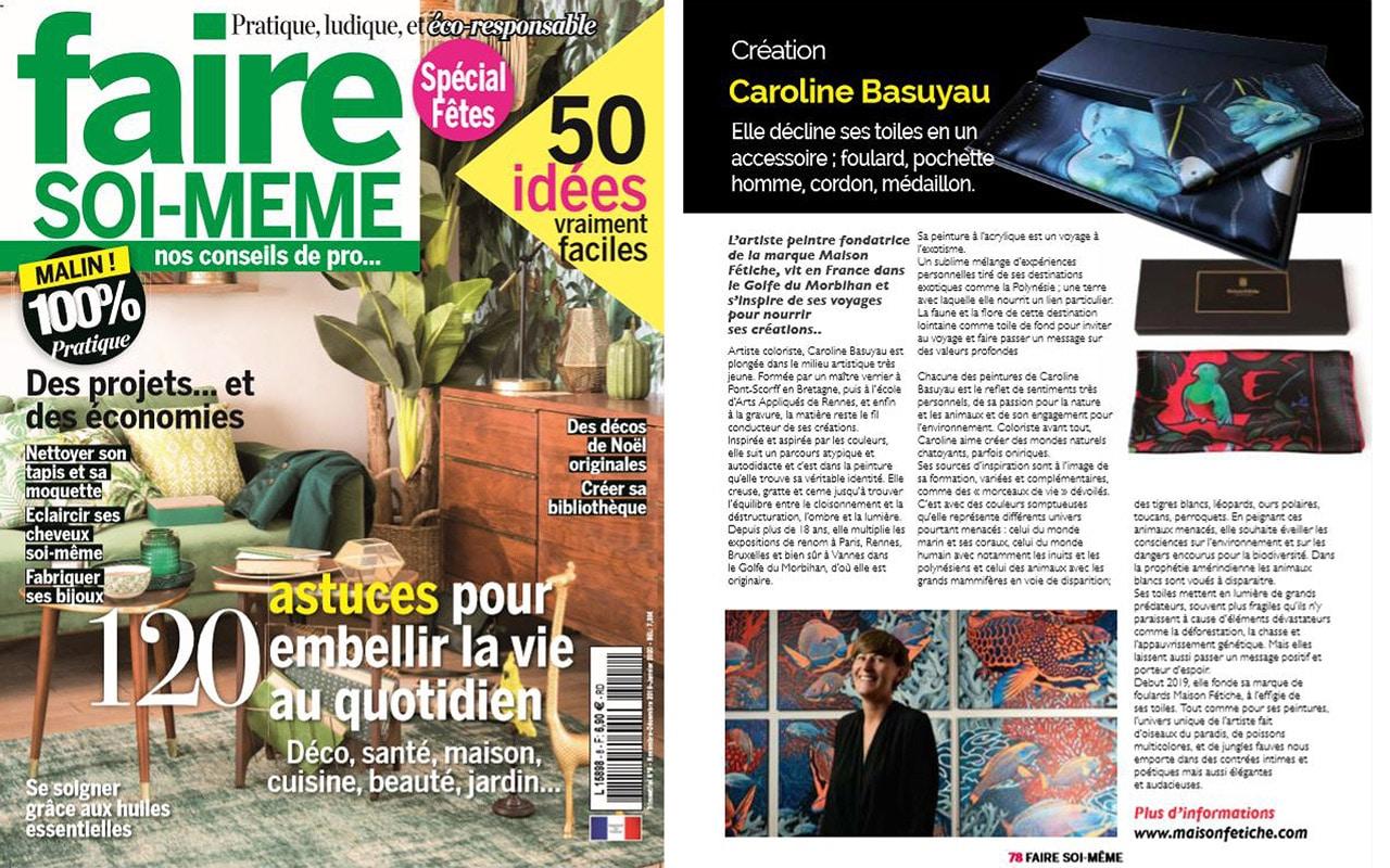 article presse maison fetiche faire soi meme magazine foulard soie made in france