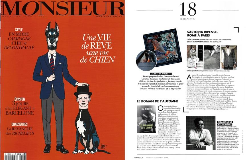 article presse maison fetiche monsieur magazine foulard soie made in france