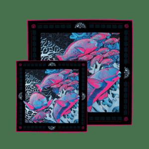 packshot1 coffret mere fille luxe carré foulard soie roulotté la danse pink made in France maison fétiche