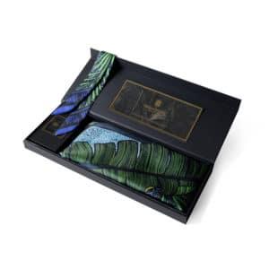 packshot duo foulard fetiche a nouer orient vert jungle feuille tropic foret