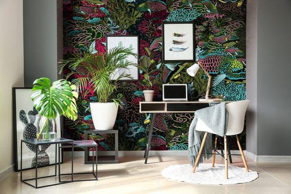 papier peint panoramique la danse allure tapisserie sous marin poisson ambiance2 maison fetiche