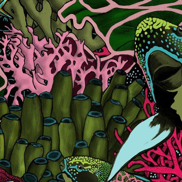 papier peint panoramique la danse allure tapisserie sous marin poisson detail2 maison fetiche