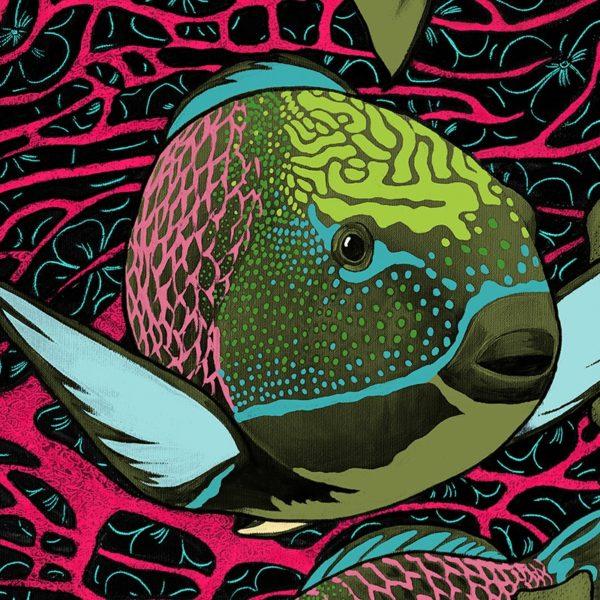 papier peint panoramique la danse allure tapisserie sous marin poisson detail6 maison fetiche