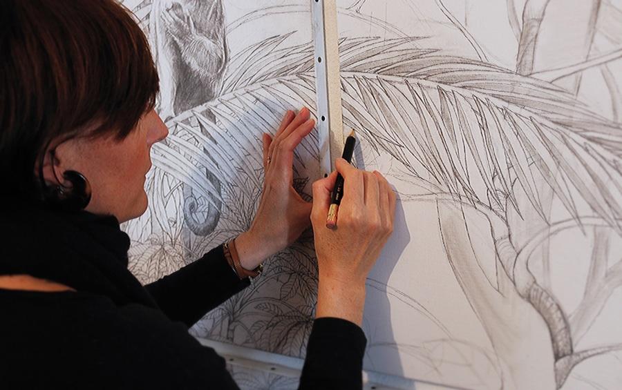 Caroline-Basuyau-dessin-preparatoir-oeuvre-a-composer