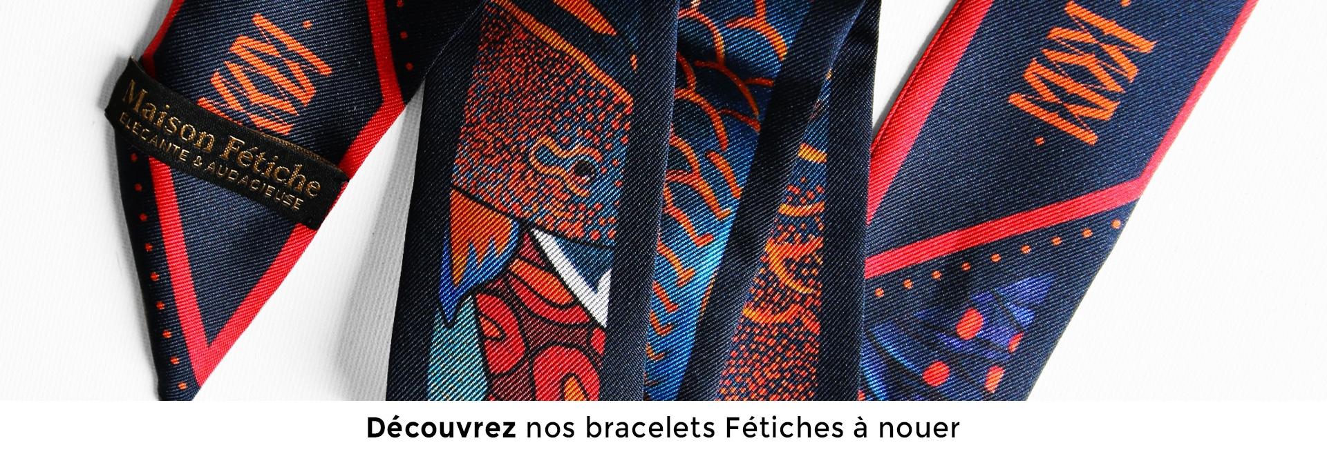 Joli bracelet soie Fetiche a nouer La Danse